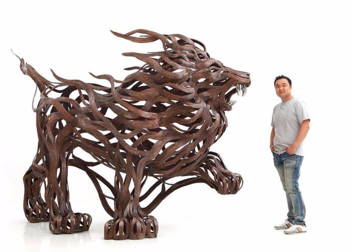 проволочные скульптуры Сен Хун Кан 12 (700x500, 212Kb)