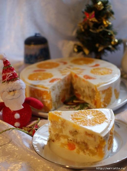 Праздничный апельсиновый желейный торт (2) (520x700, 240Kb)