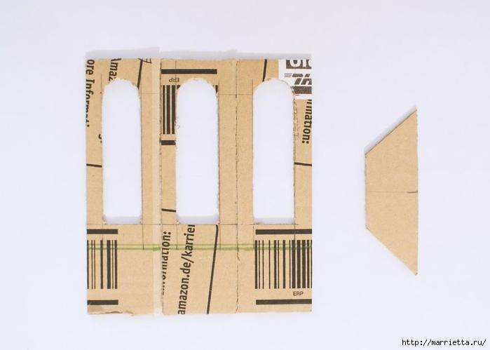 Домик в Викторианском стиле. Из картонной коробки (4) (700x499, 116Kb)