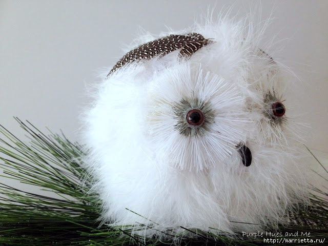 Белая сова из папье маше и боа (9) (640x480, 194Kb)