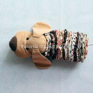 Шьем собачку из цветочков йо-йо. Мастер-класс и выкройка (26) (300x300, 51Kb)
