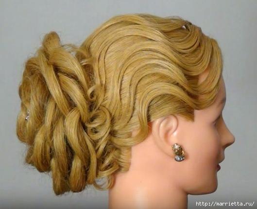 Роза из волос. Вечерняя прическа (1) (529x430, 122Kb)