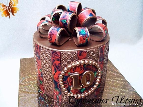 Бант из вафельной бумаги для украшения торта (2) (583x436, 193Kb)