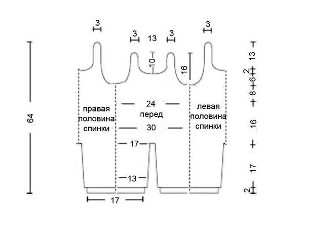 Схема вязания ползунков крючком