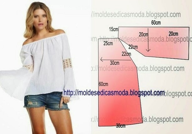 Летняя блузка своими руками выкройки для начинающих
