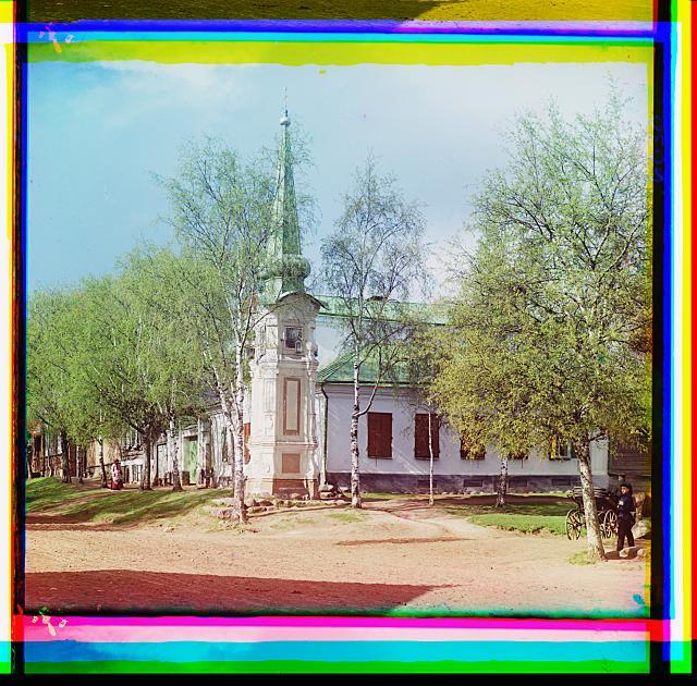 4. Старинная часовня вдалеке от набережной г. Осташкова (640x630, 454Kb)