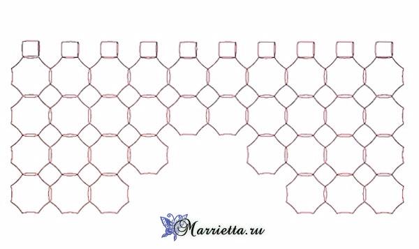 Шторка крючком цветочными мотивами. Схема (2) (600x357, 123Kb)