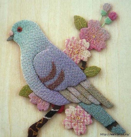 Аппликация. Птицы. Идеи для вдохновения (10) (537x562, 255Kb)