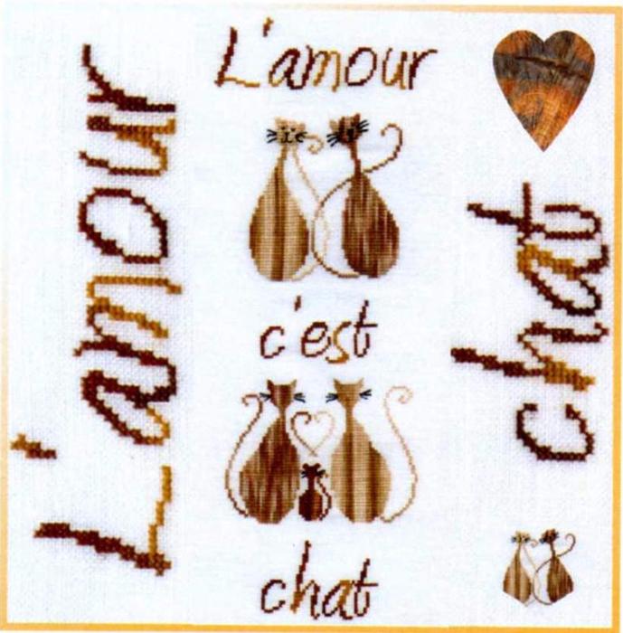 00 Bleu de Soie BL225 L'amour c'est Chat (689x700, 437Kb)