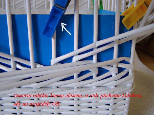 Корзинка для белья — плетение из газет8 (600x450, 234Kb)
