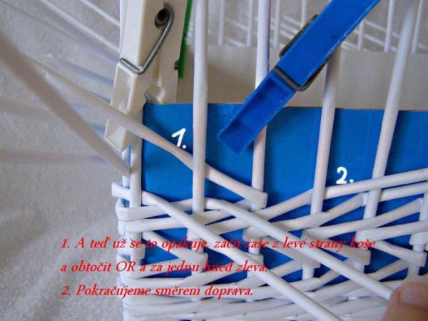 Корзинка для белья — плетение из газет10 (600x450, 226Kb)