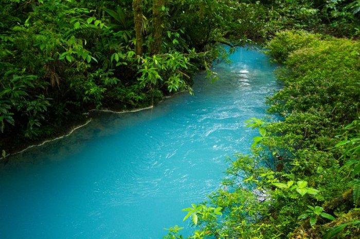 голубая река  Рио-Селесте 2 (700x466, 393Kb)