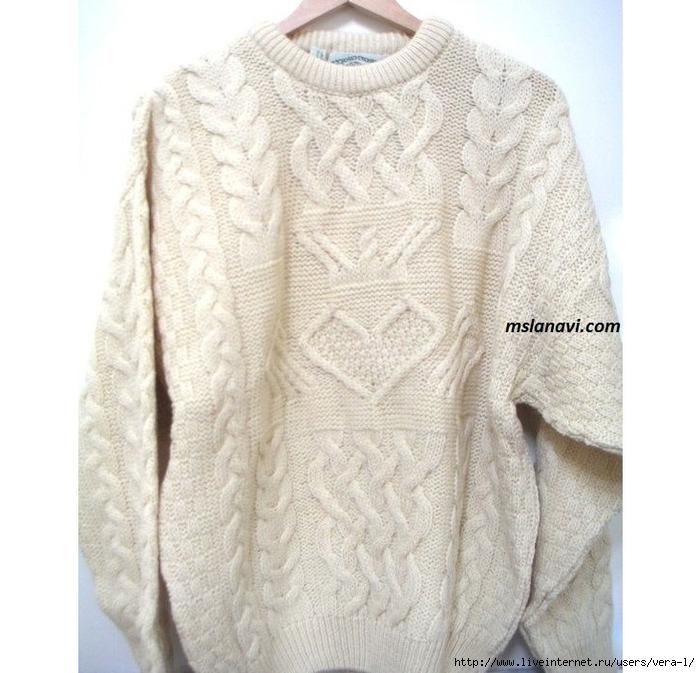 вязаный-свитер-спицами (700x673, 276Kb)