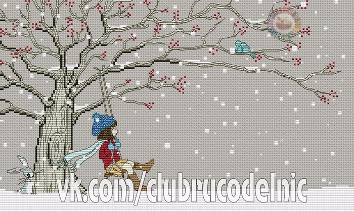 Belle boo out in the snow (700x420, 368Kb)