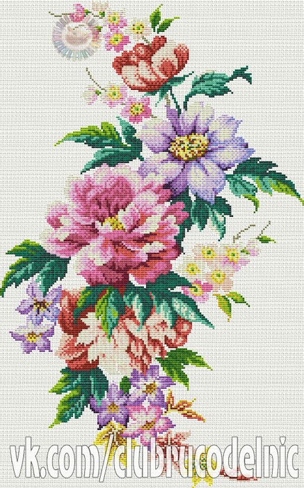 Passion for Peonies (437x700, 488Kb)