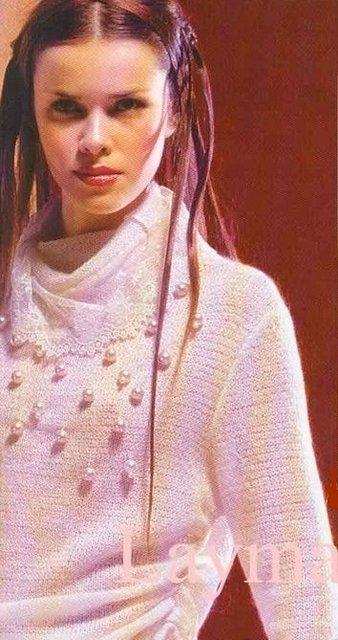 вязаный спицами свитер (338x640, 58Kb)