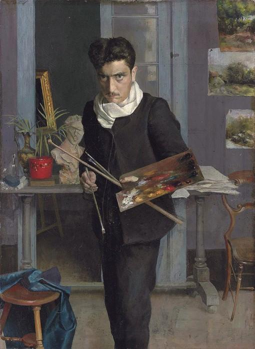 Автопортрет (ок 1905) (510x700, 100Kb)