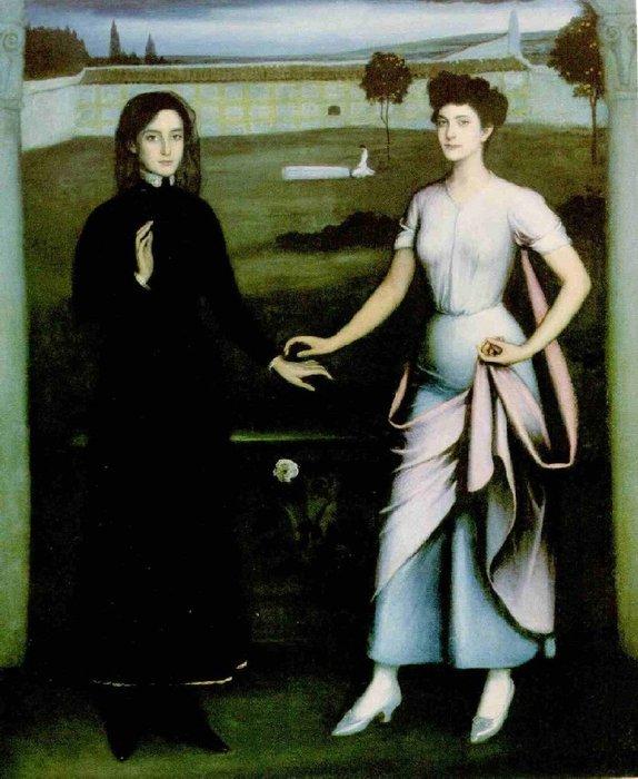 El Amor Sagrado y el Amor profano, 1908 (574x700, 77Kb)