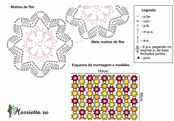 Вязание пледа или накидки круглыми мотивами (2) (600x419, 252Kb)