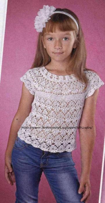 Нарядная детская маечка крючком: схемы вязания, фото, описание