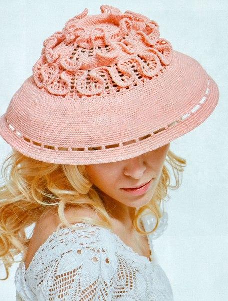 Вязаная шляпа (457x604, 74Kb)