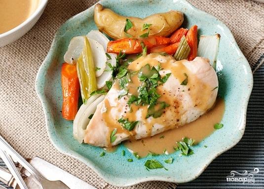 Овощи с курицей