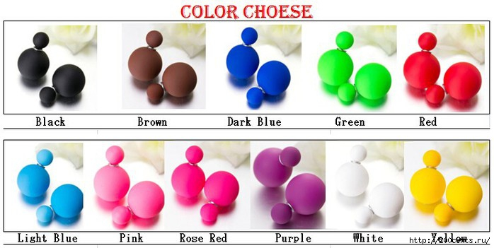 Newest Fashion Jewelry Earring Candy Color Double Side Pearl Earrings Big/Small Frosted Matte Stud Earrings For Women Girl/5863438_HTB1YeYwJFXXXXcPXXXXq6xXFXXXB (700x351, 125Kb)
