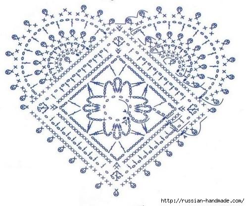 Схемы вязания сердечек - валентинок крючком (9) (499x416, 154Kb)