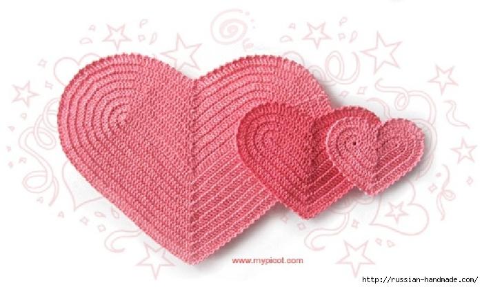 Схемы вязания сердечек - валентинок крючком (15) (700x416, 187Kb)