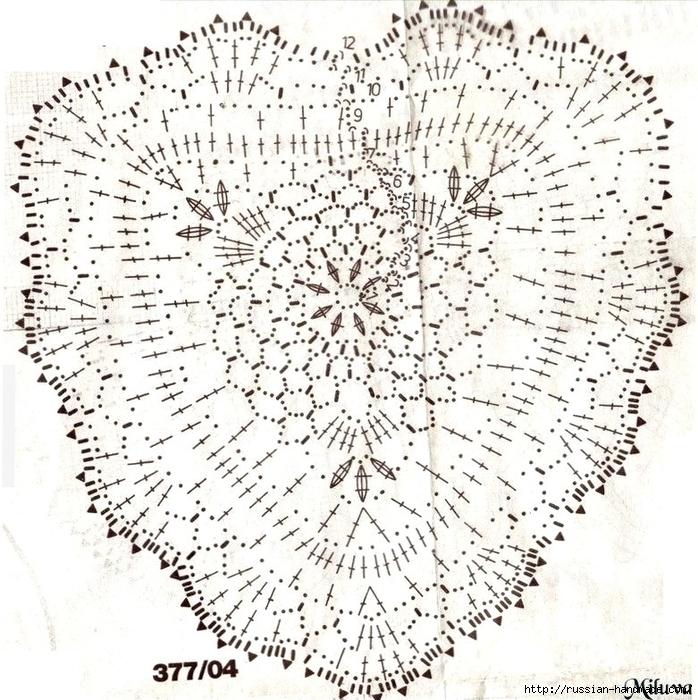Схемы вязания сердечек - валентинок крючком (21) (698x700, 425Kb)