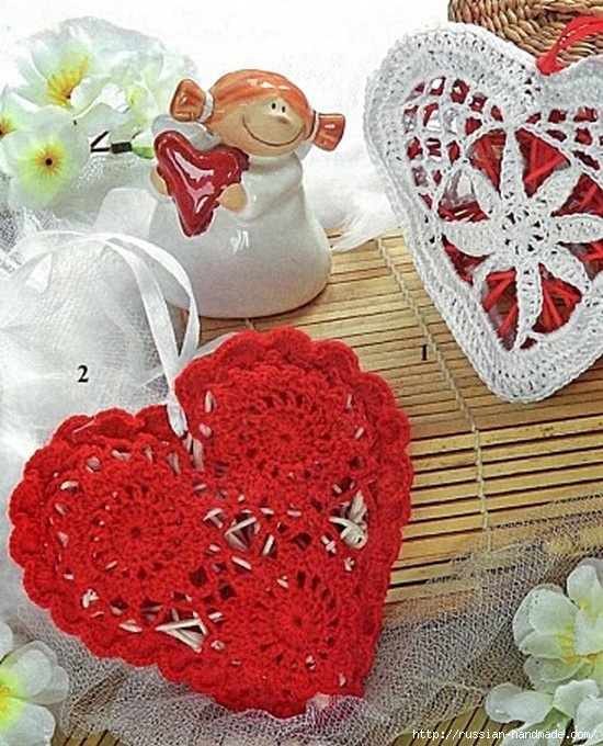 Схемы вязания сердечек - валентинок крючком (27) (550x680, 282Kb)
