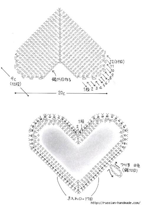 Схемы вязания сердечек - валентинок крючком (31) (482x700, 156Kb)