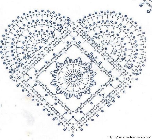 Схемы вязания сердечек - валентинок крючком (35) (583x538, 263Kb)