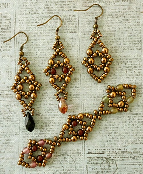 Seed Bead Earrings and Bracelet samples (500x607, 422Kb)