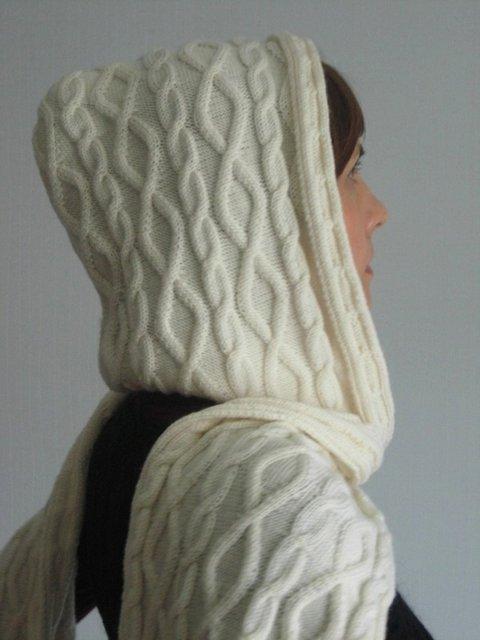 вязаный шарф капюшон 1 (480x640, 40Kb)
