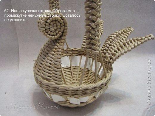 Курочка плетение из газетных трубочек