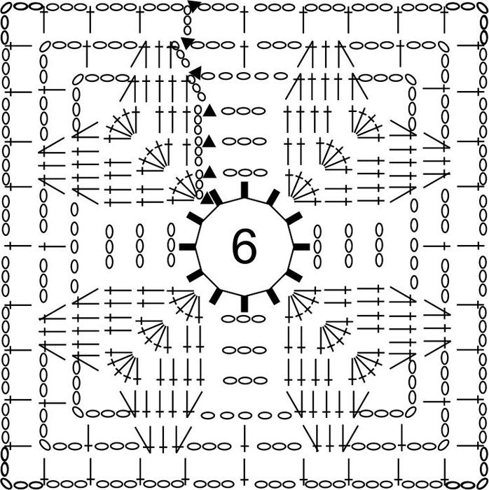 сердце квадрат схема общая (698x700, 259Kb)