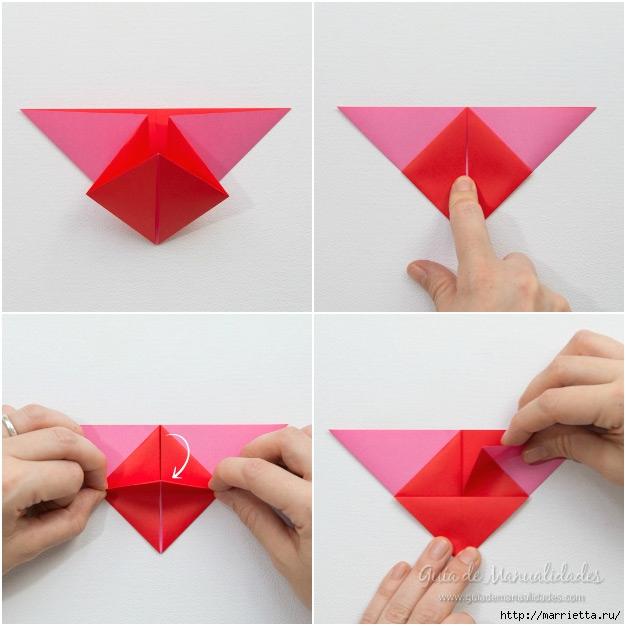 Крылатые валентинки в технике оригами из бумаги (4) (626x626, 178Kb)