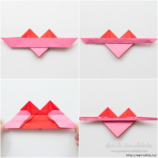 Крылатые валентинки в технике оригами из бумаги (8) (626x626, 160Kb)