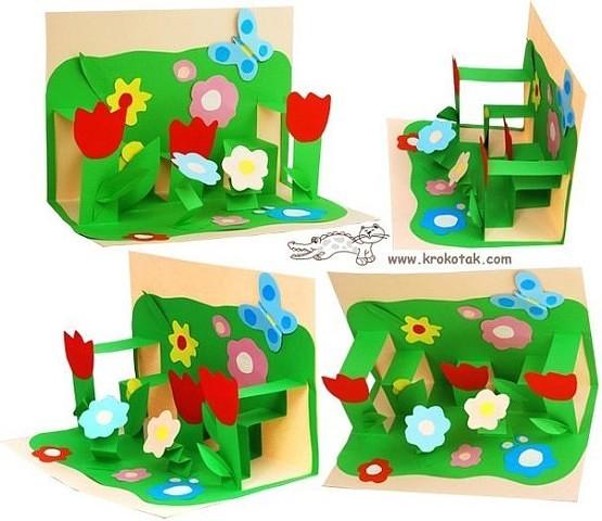 подарок маме на 8 марта, поделка для мамы на 8 марта, цветы из бумаги на день рождения маме, что сделать с ребенком на 8 марта,