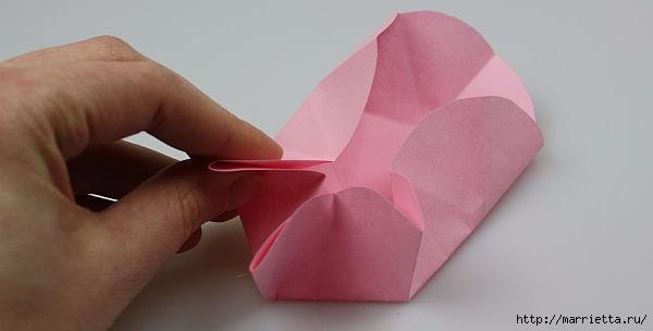 Творчество с детьми. Цветочки в технике оригами (7) (600x304, 52Kb)