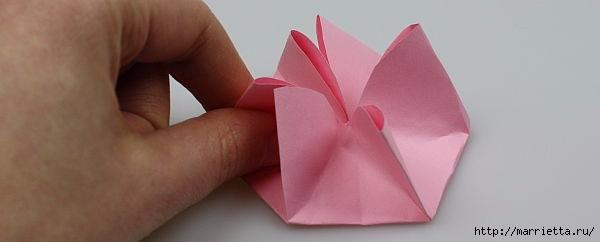 Творчество с детьми. Цветочки в технике оригами (9) (600x242, 45Kb)