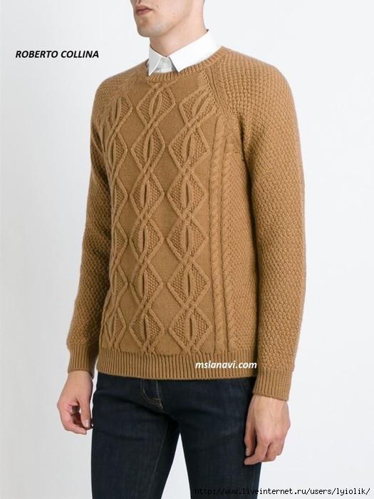 Мужской-вязаный-свитер-от-ROBERTO-COLLINA-768x1024 (525x700, 158Kb)