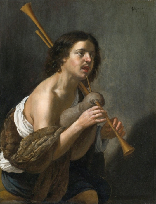 4000579_A_Bagpipe_Player_by_Jan_van_Bijlert (534x700, 244Kb)