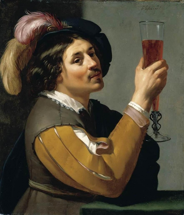 4000579_Jan_van_Bijlert__Young_Man_Drinking_a_Glass_of_Wine__WGA02184 (597x700, 244Kb)