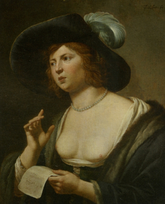 4000579_Bijlert_Jan_Van_A_Woman_Singing_Oil_on_Panellarge (566x700, 245Kb)