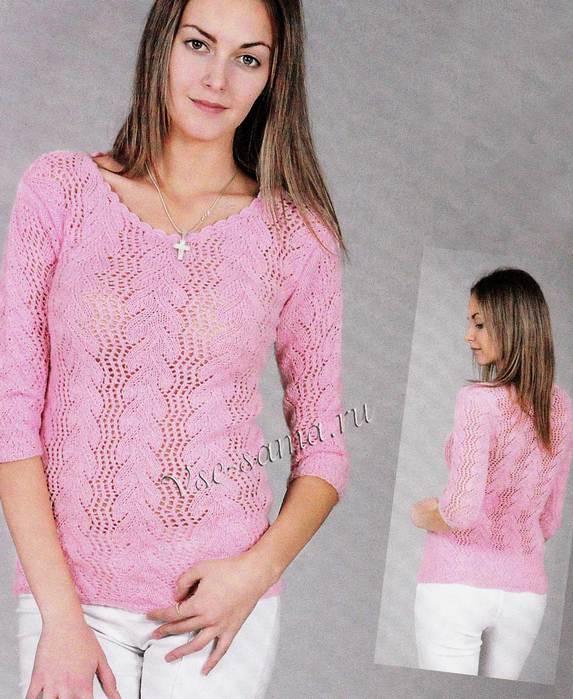 Rozovyi-pulover-iz-khlopka-foto (573x700, 62Kb)