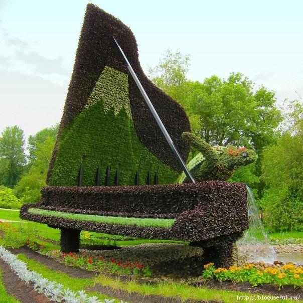 скульптуры из живых растений (604x604, 304Kb)