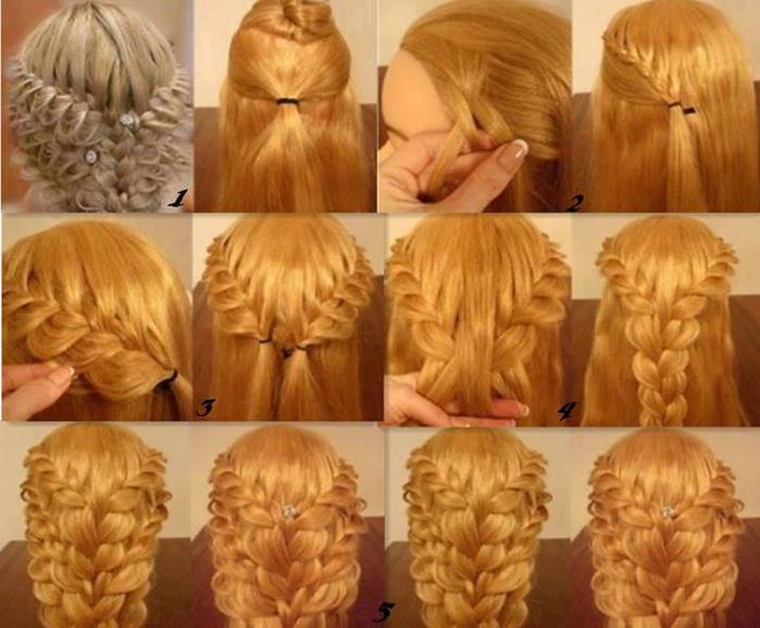 прически плетение на средние волосы фото пошагово
