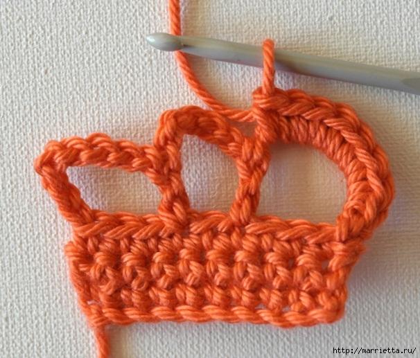 Корона крючком. Вязаное украшение (12) (606x517, 221Kb)